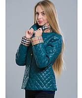 Куртка весенняя - 9 темно-зеленый р. 42;44