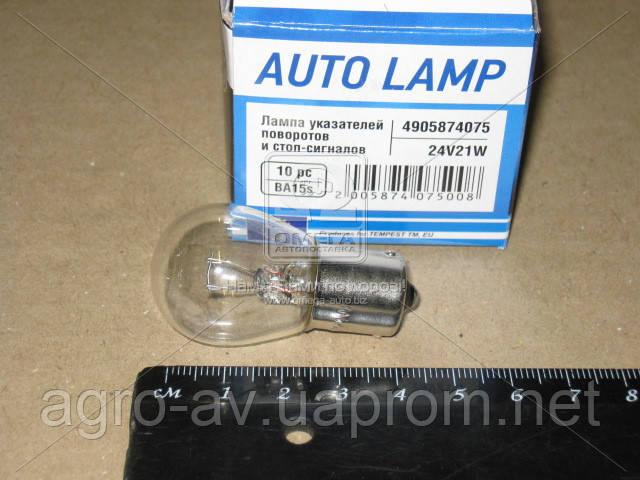 Лампа (24V21W) указателей поворотов и стоп-сигналов  BA15s 24V P21W <Tempest>