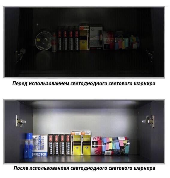 Внутрішня LED підсвічування для меблів EVOLT + батарейка 23A12V