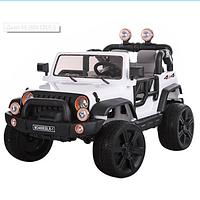 Детский двухместный электромобиль джип M 3469 EBLR-1 белый ***