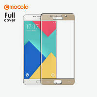 Защитное стекло Mocolo 2.5D 9H на весь экран для Samsung Galaxy A3 A310 2016 золотистый