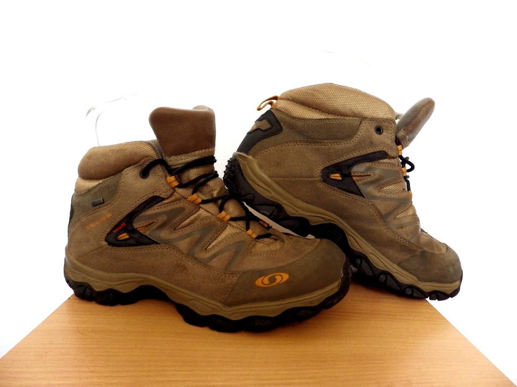 Ботинки Salomon (термо) р-р 38 (23,5см)  (сток, б/у) коричневые кожаные термо ботинки трекинговые