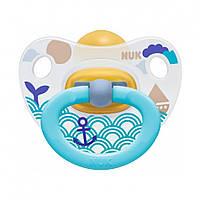 Пустышка успокаивающая NUK Happy Kids, 3р. (латекс) Голубой