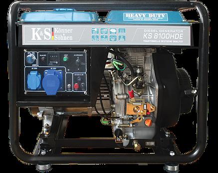 Дизельный генератор Konner&Sohnen KS 8100HDE, фото 2