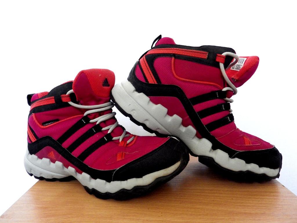 Детские ботинки Adidas AX 1 Mid (ClimaProof) р-р 35 (21,5см)  (сток, б/у) розовые термо ботинки трекинговые
