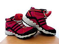 Детские ботинки Adidas AX 1 Mid (ClimaProof) р-р 35 (21,5см)  (сток, б/у) розовые термо ботинки трекинговые , фото 1