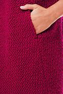 Женское пальто из букле / размер 50-52 / цвет вишня большие размеры, фото 3