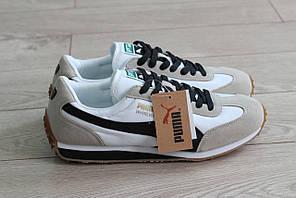 Мужские замшевые кроссовки Puma Whirlwind серые (реплика)