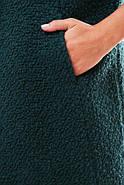 Женское пальто из букле / размер 50-52 / цвет бутылочный большие размеры, фото 3