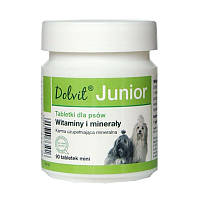 Витамины Долвит Юниор мини (Dolvit Junior mini) для собак мелких пород 90 таб., 48 гр., фото 1