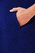 Женское пальто из букле / размер 50-52 / цвет кобальт большие размеры, фото 3