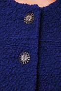 Женское пальто из букле / размер 50-52 / цвет кобальт большие размеры, фото 4