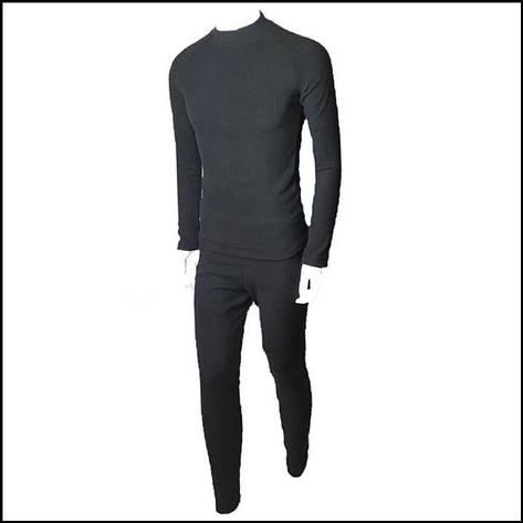 Термобілизна флісова чорна (штани + реглан) / Level II, фото 2