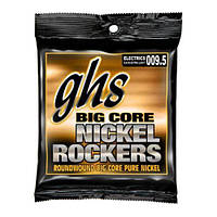 Струны для электрогитары GHS Big Core Nickel Rockers Electric Guitar Strings extra light gauges 9.5-43