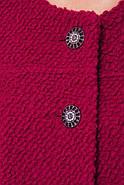 Женское пальто из букле с кружевом / размер 50-52 / цвет вишня большие размеры, фото 4