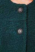 Женское пальто из букле с кружевом / размер 50-52 / цвет бутылочный большие размеры, фото 4