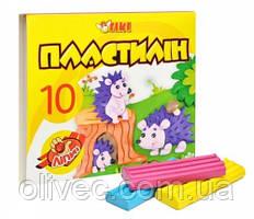 """Пластилин """"Tiki"""" 10 цветов, 150 гр."""