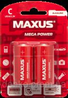 Батарейки maxus R-14 C-С2 блистер 2 шт лужна