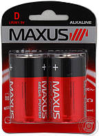 Батарейки maxus R-20 D-С2 блистер 2 шт лужна