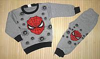 Теплая Пижама для Мальчика Человек Паук  Серый пр-во Турция   Рост 86-110 см