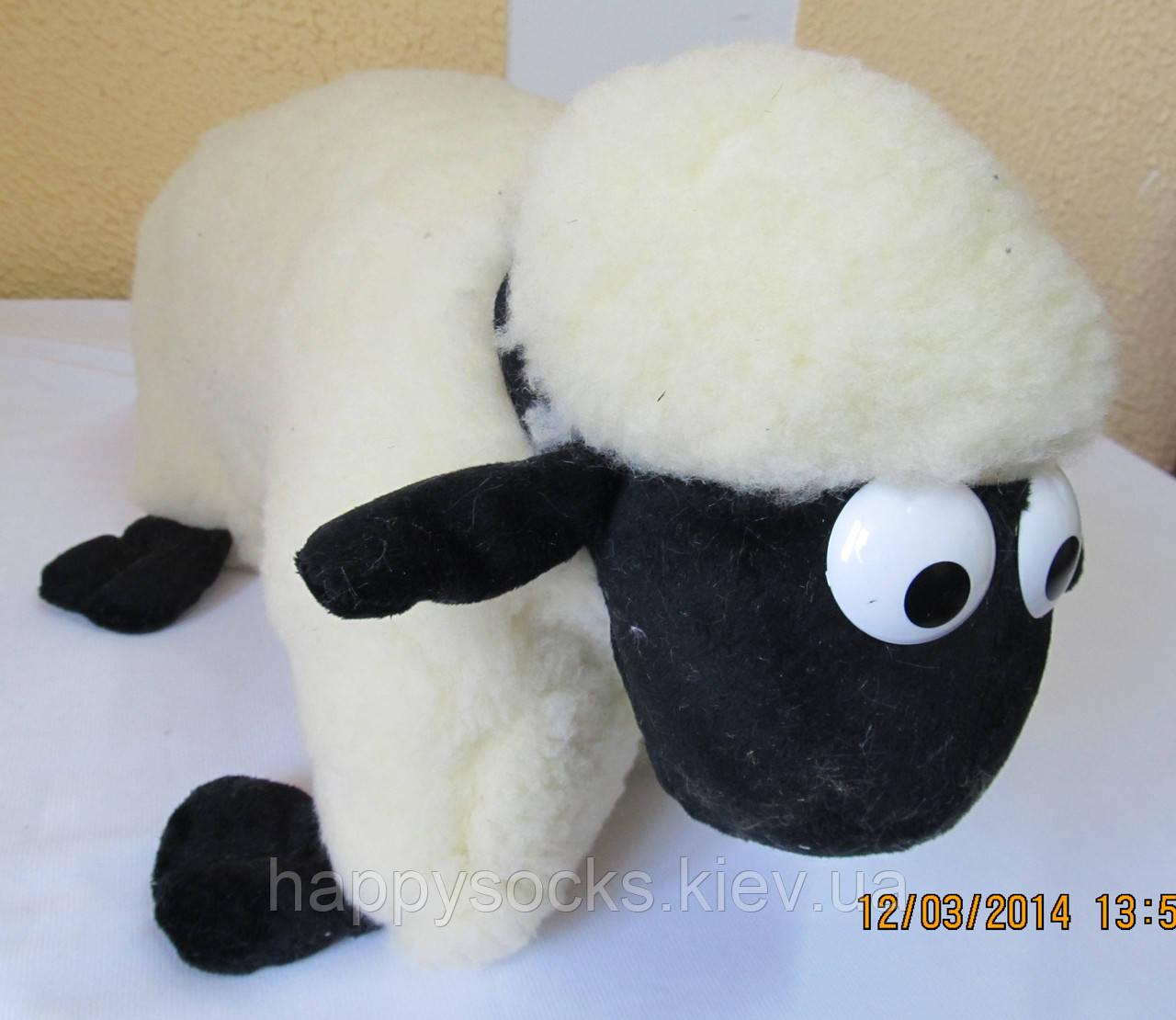 Декоративная подушка-игрушка шерстяная Барашек Шон