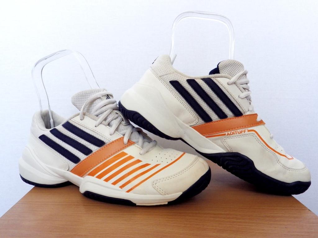 Кроссовки детские Adidas Galaxy Elite III 100% Оригинал р-р 36 2/3 (22,5см)  (б/у,сток) белые адидас