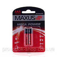 Батарейки maxus минипальчик ААА-С2 блистер 2 шт лужна