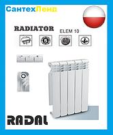 Радиатор алюминиевый Radal 500*100 (Польша)