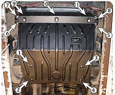 Защита двигателя Volkswagen LT 35 (с 1995--) Полигон-Авто
