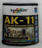 Композит Краска для бетона АК-11 Белая 2,8 кг