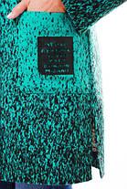 Женское кашемировое пальто на осень / размер 54,56 / цвет бирюза баталл , фото 3