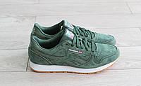 Мужские кроссовки Reebok Classic Leather зеленые