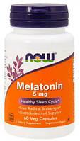 Melatonin 5 мг NOW, 60 капсул