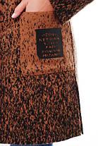 Женское кашемировое пальто на осень / размер 52-58 / цвет горчица баталл , фото 2