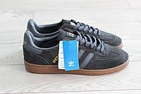 Мужские кроссовки Adidas Spezial темно серые