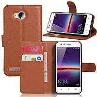 Чехол для Huawei Y3 II / Y3 2 книжка кожа PU коричневый
