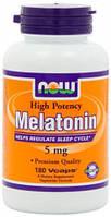 Melatonin 5 мг NOW, 180 капсул