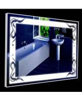 Зеркало с LED подсветкой в алюминиевой раме (60х80см) ГКРА3