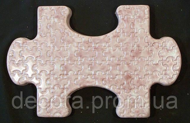 Формы для тротуарной плитки «Пазл» глянцевые пластиковые АБС ABS