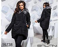 Зимняя куртка парка недорого тренд Balani в Украине России ( 42-46)