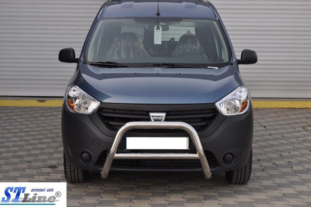Автомобильный кенгурятник WT006 (нерж.) к Renault Dokker 2013+ гг.