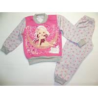 Теплая (начес) детская пижама на девочку 32 размер.Зимняя пижама