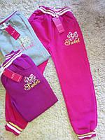 Утепленные спортивыне  брюки для девочек Nice Wear 134-164 см