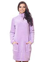Теплое флисовое платье с карманами. Цвет:сиреневый, т.бежевый, теракотовый рр. S-3XL