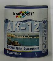 Композит краска для бассейнов АК-12 Голубая 2,8 кг