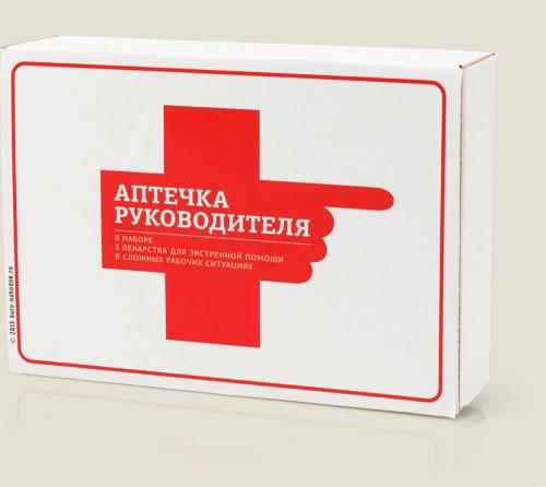 Прикольный набор - аптечка руководителя купить подарок начальнику