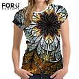Очень красивая женская футболка с 3D рисунком доставка из Китая, фото 2