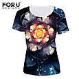 Очень красивая женская футболка с 3D рисунком доставка из Китая, фото 4