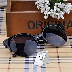 Классические солнцезащитные очки Clubmaster черного цвета