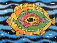 """Красивая открытка """"Рыбова семейка"""""""